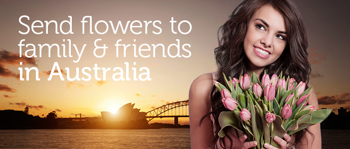 Send Flowers to Australia from UK delivered by a local florist