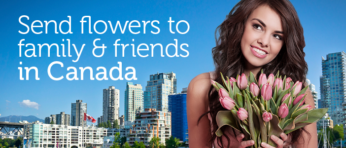 Send Flowers to Canada from UK via Direct2florist delivered by a local florist