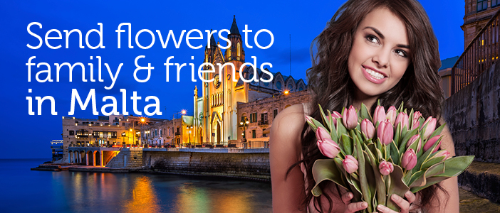 Flowers to Malta from Australia via local florists.